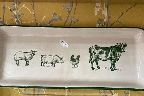 Large Ceramic Animal plate