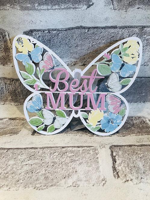 Mum Wooden butterfly