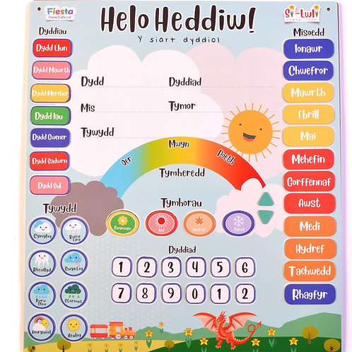 Calendr Helo Heddiw