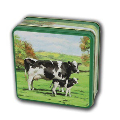 Cow biscuit tin