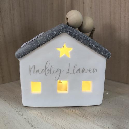 Nadolig Llawen LED House
