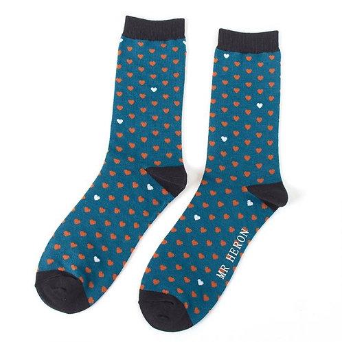Men's heart socks