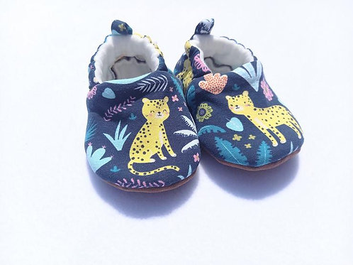 Yellow leopard shoes
