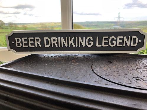Beer drinking legend