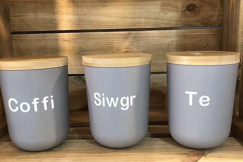 Set Te Coffi a Siwgr