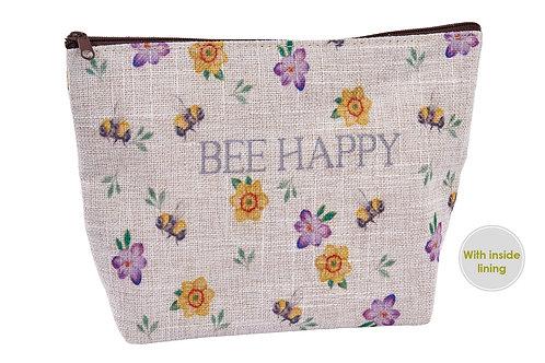 Bee Happy make up bag