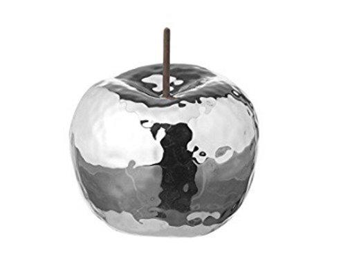 Silver Dimpled Ceramic Apple