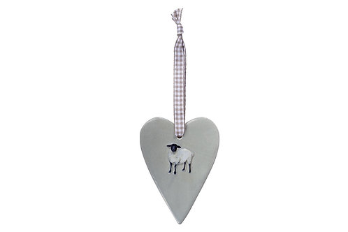Sheep ceramic heart