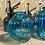 Thumbnail: Turquoise glass vases