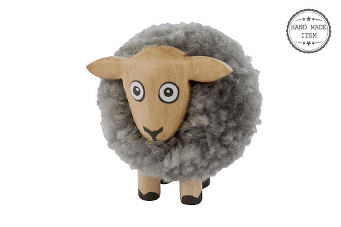 Grey pom Pom sheep