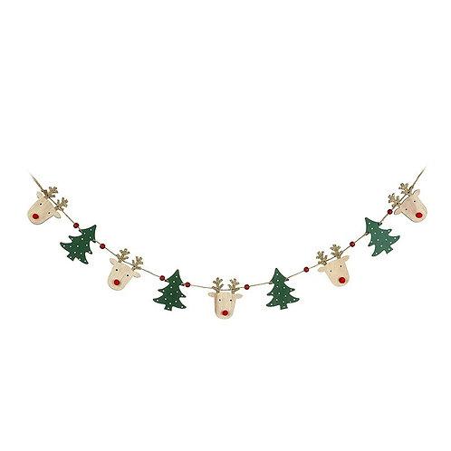 Reindeer and Tree Garland