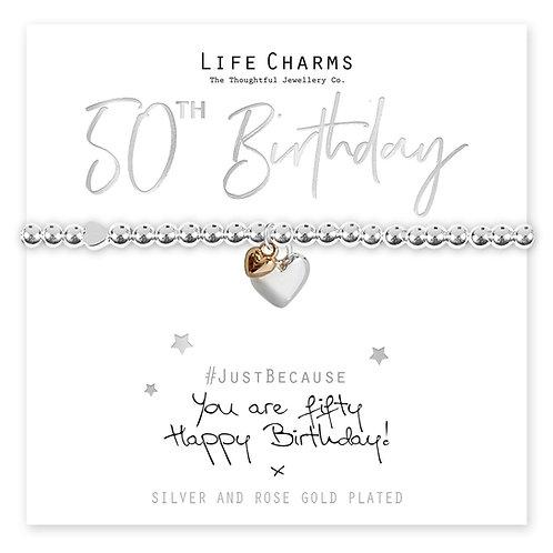 50th Birthday Bracelet