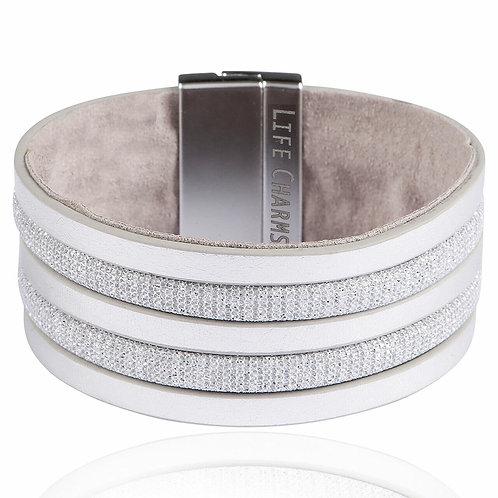 Light grey wrap bracelet
