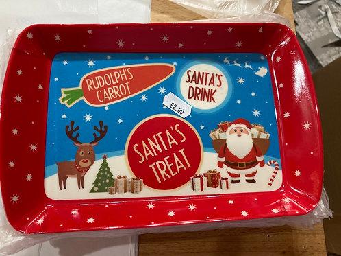 Santa treat tray