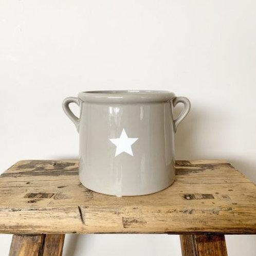 Grey small plant pot
