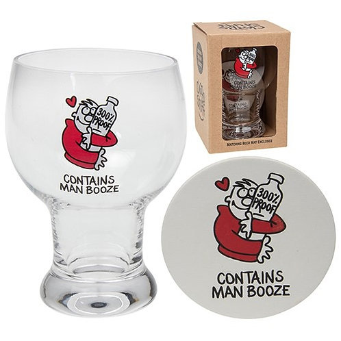Contains Man Booze Glass