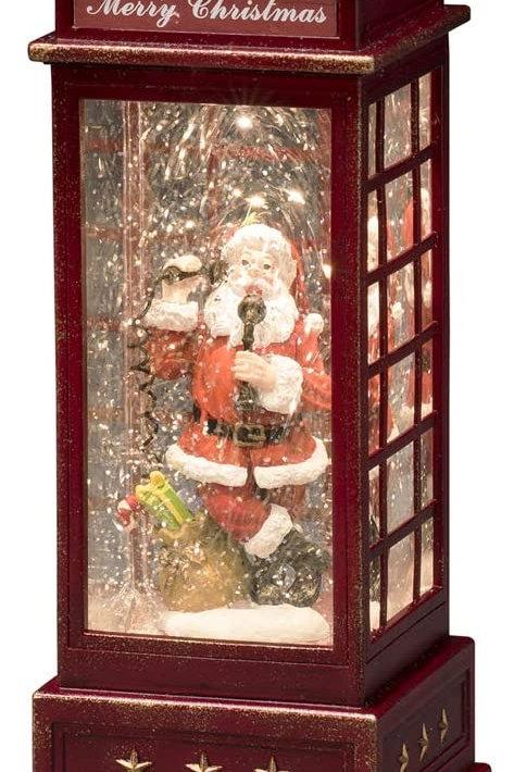 Santa kiosk snow globe