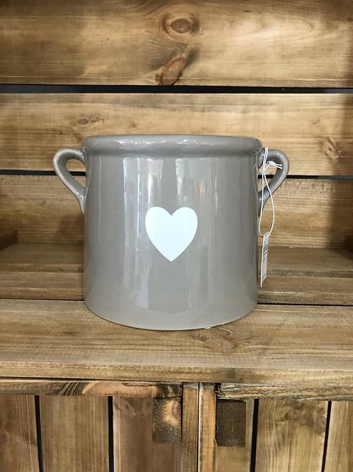 12cm grey plant pot