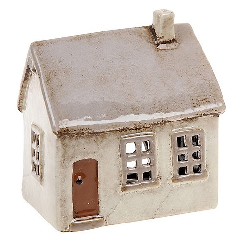 Light Grey House Tealight