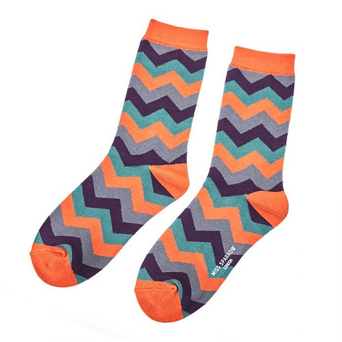 Ladies zig zag socks