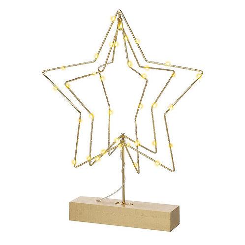 3D Metal Light Up Star
