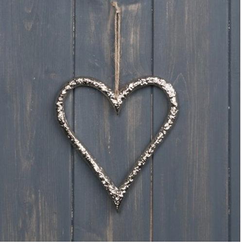 Metal heart 13cm