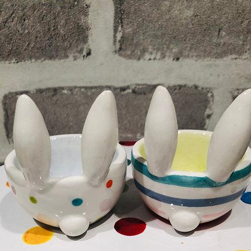 Bunny ears egg cups