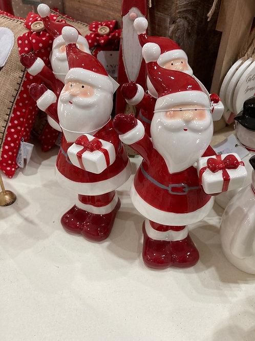 Medium ceramic Santa