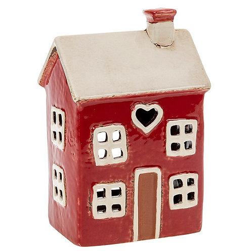 Heart House Tealight Red