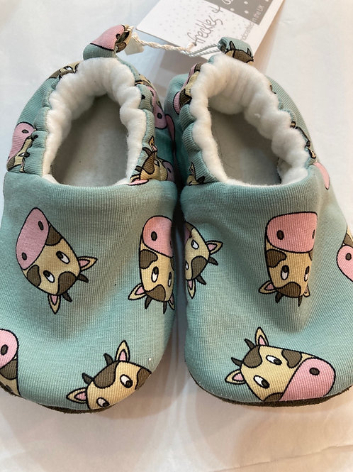 Pink Cow slippers