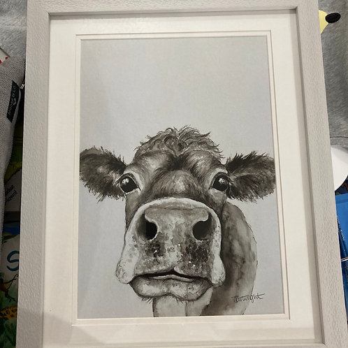 Black and white cow print A4