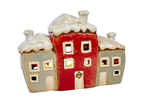 Red tealight house