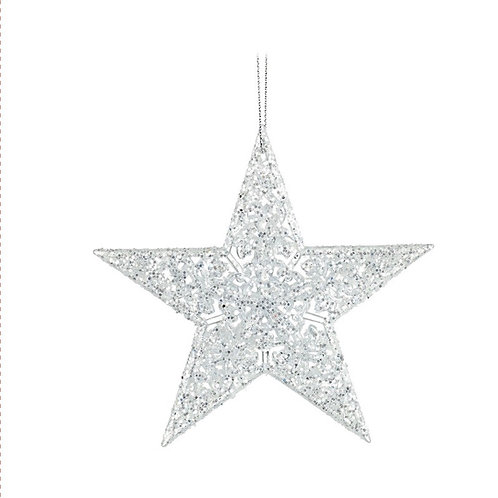 Small Glass Hanging Star