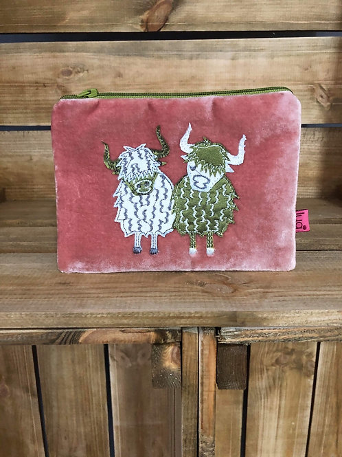 Highland cow coin purse