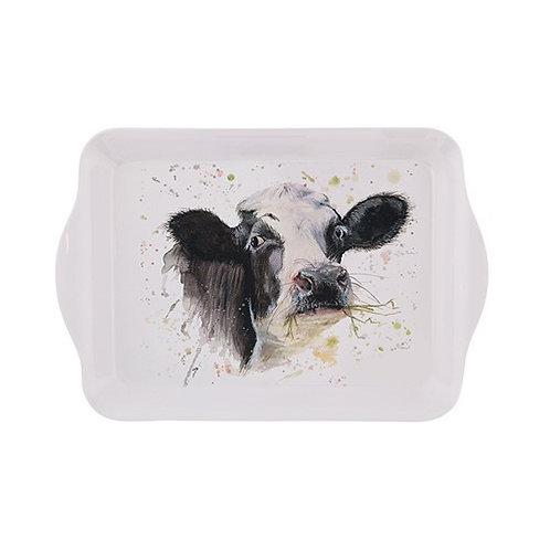 Cow melamine tray