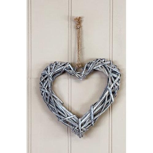 Wicker Heart 20cm