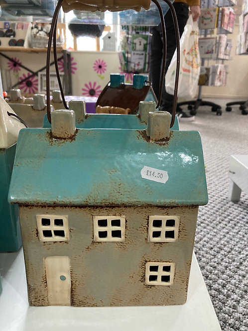 Beige tealight house
