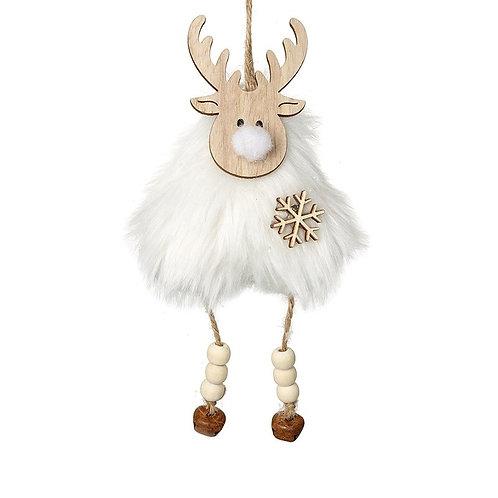 Wooden & Fur Hanging Reindeer
