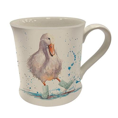 Duck in wellies mug