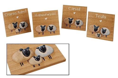 Welsh sheep plaques
