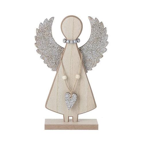 Silver wooden Angel
