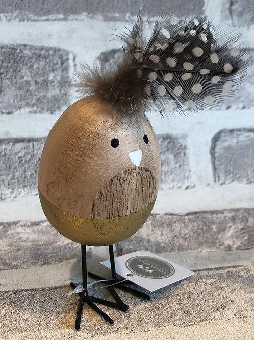 Gold wooden egg