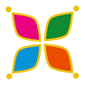 decorative logo element - colorful icon.