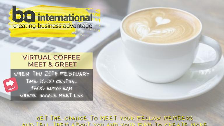 VIRTUAL COFFEE 25th FEB 2021
