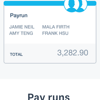 Pay runs