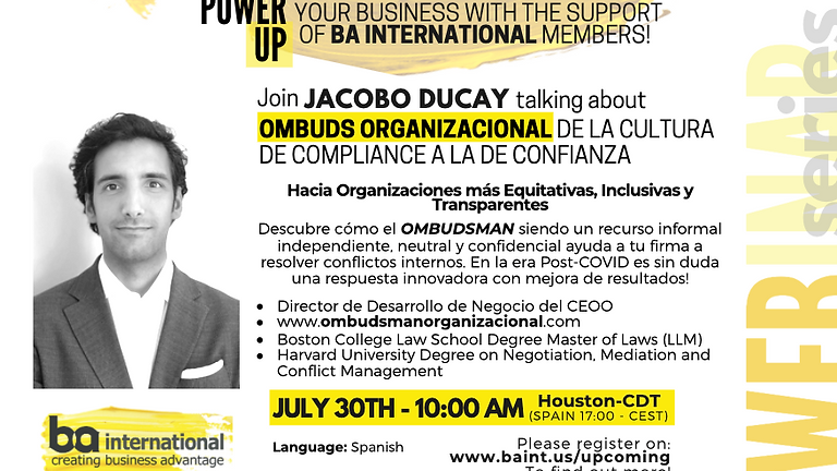 JACOBO DUCAY - OMBUDS ORGANIZACIONAL De la cultura de compliance a la de confianza