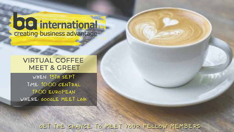 VIRTUAL COFFEE - MEET & GREET