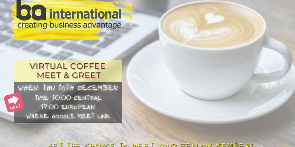VIRTUAL COFFEE 10th DECEMBER 2020