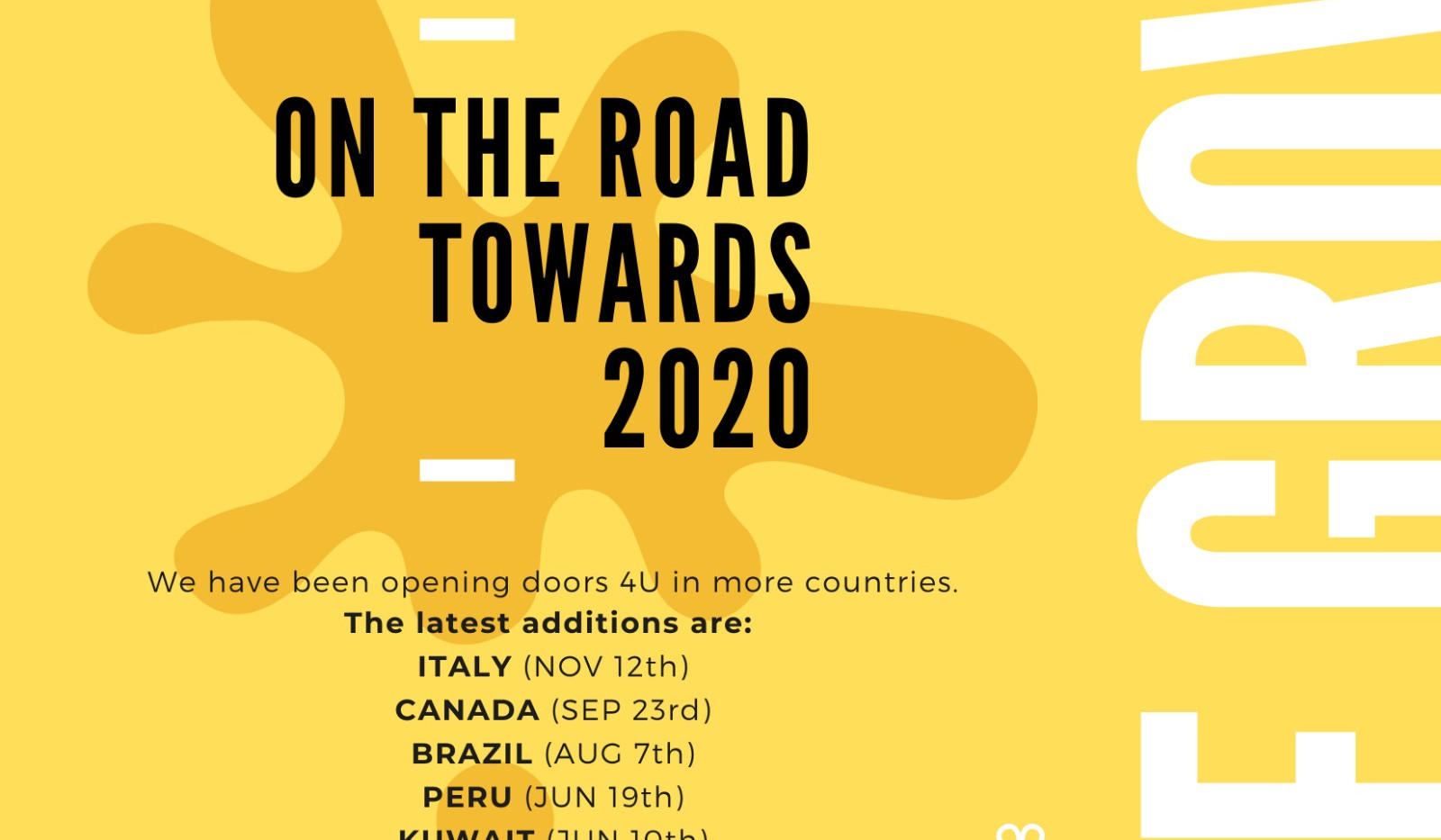 On the road towards 2020