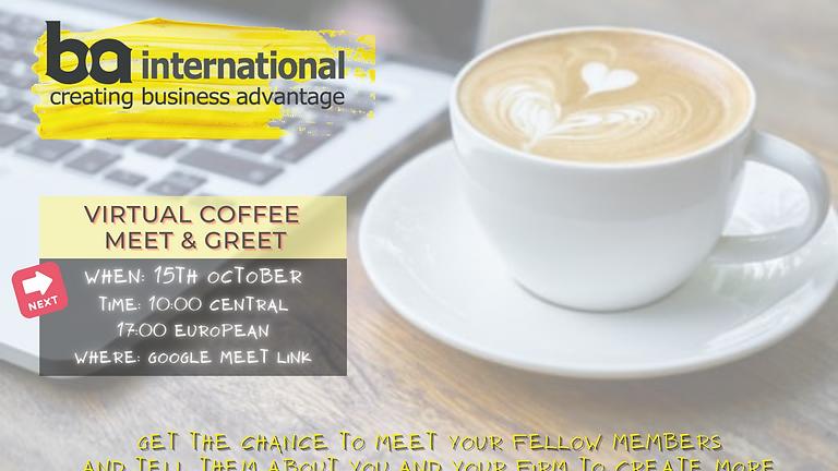 MEMBERS VIRTUAL COFFEE - MEET & GREET